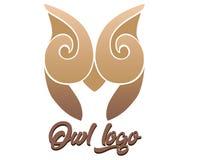 Καφετιά κουκουβάγια λογότυπων επιχείρησης ελεύθερη απεικόνιση δικαιώματος