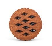 Καφετιά μπισκότα σοκολάτας με τη μαρμελάδα Στοκ φωτογραφίες με δικαίωμα ελεύθερης χρήσης