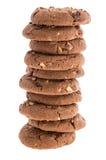 Καφετιά μπισκότα στο λευκό Στοκ Φωτογραφία
