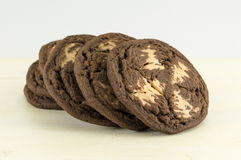 Καφετιά μπισκότα τσιπ σοκολάτας Στοκ Εικόνα