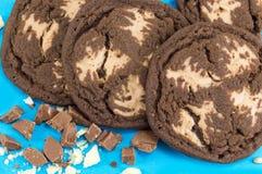 Καφετιά μπισκότα τσιπ σοκολάτας Στοκ Εικόνες