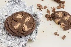 Καφετιά μπισκότα τσιπ σοκολάτας Στοκ φωτογραφία με δικαίωμα ελεύθερης χρήσης