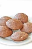 Καφετιά μπισκότα Στοκ Φωτογραφία
