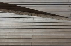 Καφετιά ξύλινη επιτροπή με τη diffent γωνία και το στρώμα στοκ φωτογραφία με δικαίωμα ελεύθερης χρήσης