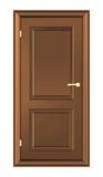 Καφετιά ξύλινη πόρτα στοκ εικόνες με δικαίωμα ελεύθερης χρήσης