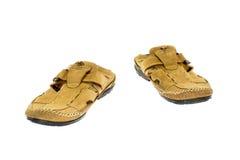 καφετιά παπούτσια δέρματος Στοκ Εικόνες