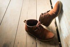 καφετιά παπούτσια δέρματος Στοκ εικόνα με δικαίωμα ελεύθερης χρήσης