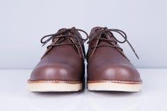 Καφετιά παπούτσια ατόμων ` s δέρματος Στοκ Εικόνες