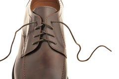 καφετιά παπούτσια ατόμων s δ Στοκ Εικόνες