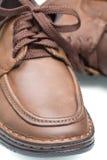 καφετιά παπούτσια δέρματο Στοκ φωτογραφία με δικαίωμα ελεύθερης χρήσης