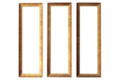 καφετιά πλαίσια ξύλινα Στοκ Εικόνες