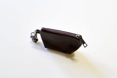 Καφετιά πορτοφόλια νομισμάτων Στοκ Φωτογραφία
