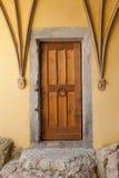 καφετιά πόρτα παλαιά Στοκ φωτογραφία με δικαίωμα ελεύθερης χρήσης