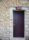 Καφετιά πόρτα τουαλετών στοκ φωτογραφίες με δικαίωμα ελεύθερης χρήσης