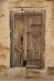 καφετιά πόρτα Στοκ φωτογραφίες με δικαίωμα ελεύθερης χρήσης