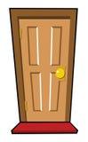 καφετιά πόρτα Στοκ Φωτογραφία