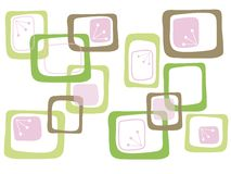 καφετιά ρόδινα τετράγωνα κ διανυσματική απεικόνιση