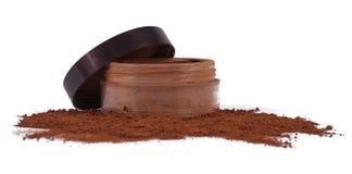 Καφετιά σκόνη makeup Στοκ Φωτογραφία