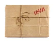 Καφετιά συσκευασία παράδοσης ταχυδρομείου Στοκ φωτογραφία με δικαίωμα ελεύθερης χρήσης