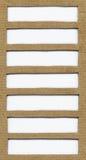 Καφετιά σύσταση εγγράφου χαρτονιού με το διάστημα αντιγράφων, διάστημα για το κείμενο, στοιχείο σχεδίου Στοκ Εικόνα