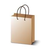 Καφετιά τσάντα αγορών Στοκ Εικόνα