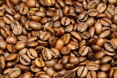 Καφετιά φασόλια καφέ για το υπόβαθρο και τη σύσταση Στοκ Εικόνες