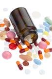 καφετιά χάπια μπουκαλιών Στοκ φωτογραφίες με δικαίωμα ελεύθερης χρήσης
