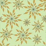 Καφετιά floral άνευ ραφής διακόσμηση ελεύθερη απεικόνιση δικαιώματος