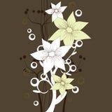 καφετιά floral ταπετσαρία ελεύθερη απεικόνιση δικαιώματος