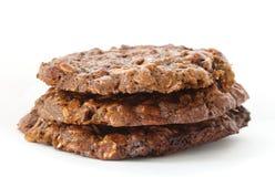 Καφετιά oatmeal μπισκότα Στοκ φωτογραφίες με δικαίωμα ελεύθερης χρήσης