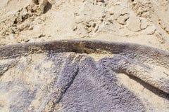 Καφετιά terrycloth πετσέτα στοκ φωτογραφία με δικαίωμα ελεύθερης χρήσης