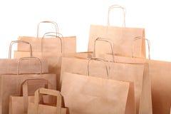 καφετιές απομονωμένες δώρο αγορές τσαντών Στοκ φωτογραφίες με δικαίωμα ελεύθερης χρήσης
