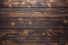 Καφετιές και κίτρινες βουρτσισμένες μμένες ξύλινες σανίδες για το υπόβαθρο Στοκ Εικόνες