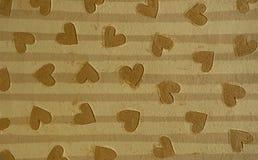 καφετιές καρδιές Στοκ Εικόνα