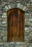 Καφετιές ξύλινες πόρτες στοκ εικόνα