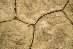 Καφετιές πάτωμα και διάβαση πετρών Στοκ Εικόνες