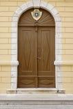 Καφετιές πόρτες Στοκ εικόνα με δικαίωμα ελεύθερης χρήσης
