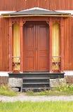 Καφετιές πόρτες Στοκ φωτογραφία με δικαίωμα ελεύθερης χρήσης