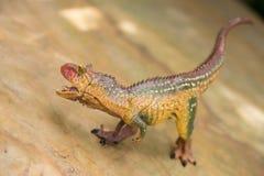 Καφετιές στάσεις παιχνιδιών carnotaurus Στοκ φωτογραφίες με δικαίωμα ελεύθερης χρήσης