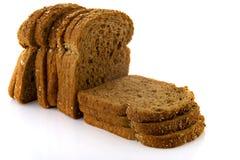 καφετιές φέτες ψωμιού Στοκ Εικόνες