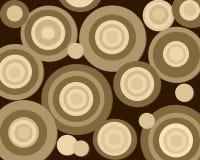 καφετιοί κύκλοι αναδρο&m Στοκ φωτογραφία με δικαίωμα ελεύθερης χρήσης