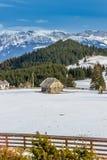 Καύκασος καλύπτει το shurovky ushba ουρανού βουνών βουνών τοπίων Στοκ Εικόνες
