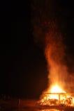 Καύση της πυρκαγιάς Στοκ Εικόνες