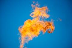 Καύση του σχετικού αερίου πετρελαίου Στοκ Εικόνες