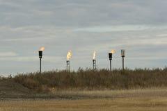 Καύση του φυσικού αερίου Στοκ Φωτογραφία