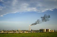 Καύση φυσικού αερίου Στοκ Φωτογραφία