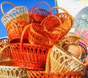 Καλάθια βουνών στην αγορά Στοκ εικόνα με δικαίωμα ελεύθερης χρήσης