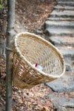 Καλάθι ή κάδος μπαμπού Handmande Στοκ Φωτογραφίες