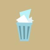 Καλάθι αποβλήτων Στοκ φωτογραφίες με δικαίωμα ελεύθερης χρήσης