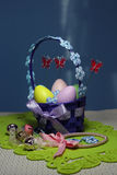 Καλάθι αυγών Πάσχας Στοκ Εικόνες